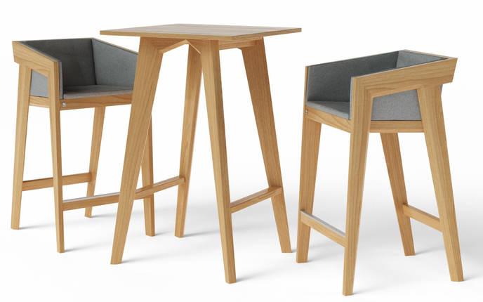 Стол барный Air 2 bar S 70*70 см натуральный TM Kint, фото 2