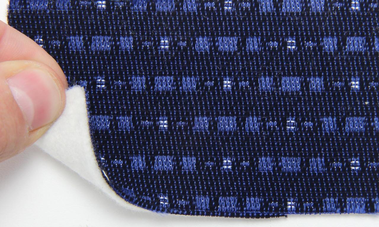 Автоткань оригінальна для центру сидінь (синій 7612/1), основа на повсті, товщина 3мм, шириною 140см