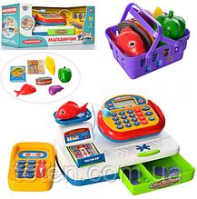 Дитячий касовий апарат 7019 UA Мій магазин, дисплей, ваги, світлові і звукові ефекти, укр. мовою Т
