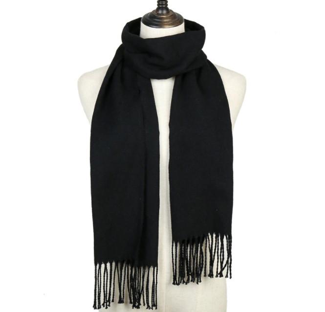 Модный женский кашемировый шарф - Черный