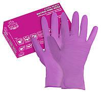Перчатки нитриловые неопудренные VitLUX розовые, размер S ,М (50 пар) 100 шт