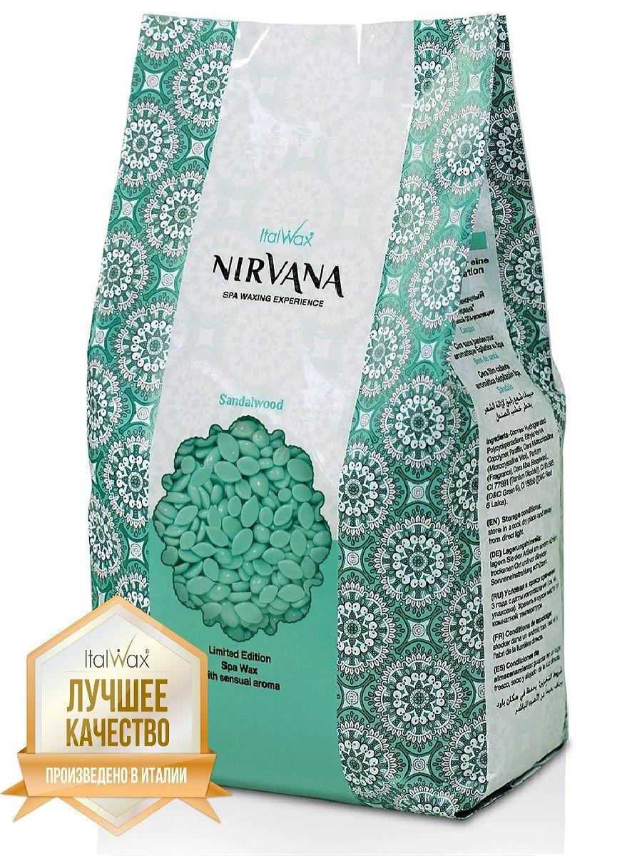 Віск в гранулах Italwax плівковий гарячий Nirvana Сандал 1 кг.+ шпатели 25 шт.