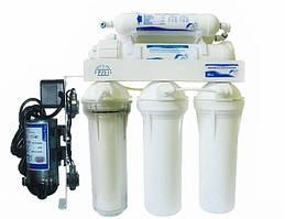 Фильтр обратного осмоса USTM Filter RO6–WFU, 6 ступеней очистки, с помпой