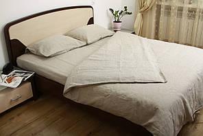 Комплект постельного белья Utorova Первозданный Полуторный 2 наволочки лен Небеленный (utr_0020)