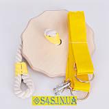 Подарок Детская качеля тарзанка для улицы, подвесная деревянная «ЭКОНОМ» в подарочной упаковке, фото 2