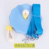 Подарок Детские качели тарзанка для улицы, подвесные из дерева «ЭЛИТ», лазурь, в подарочной упаковке, фото 2