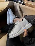 Кросівки Alexander McQueen silver / Олександр Маквин, фото 5