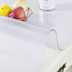 Силиконовая скатерть Мягкое стекло Soft Glass Покрытие для мебели 1.6х1.0м (толщина 1.0мм) Матовая