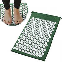 Ортопедический массажный коврик Acupressure Mat Зеленый