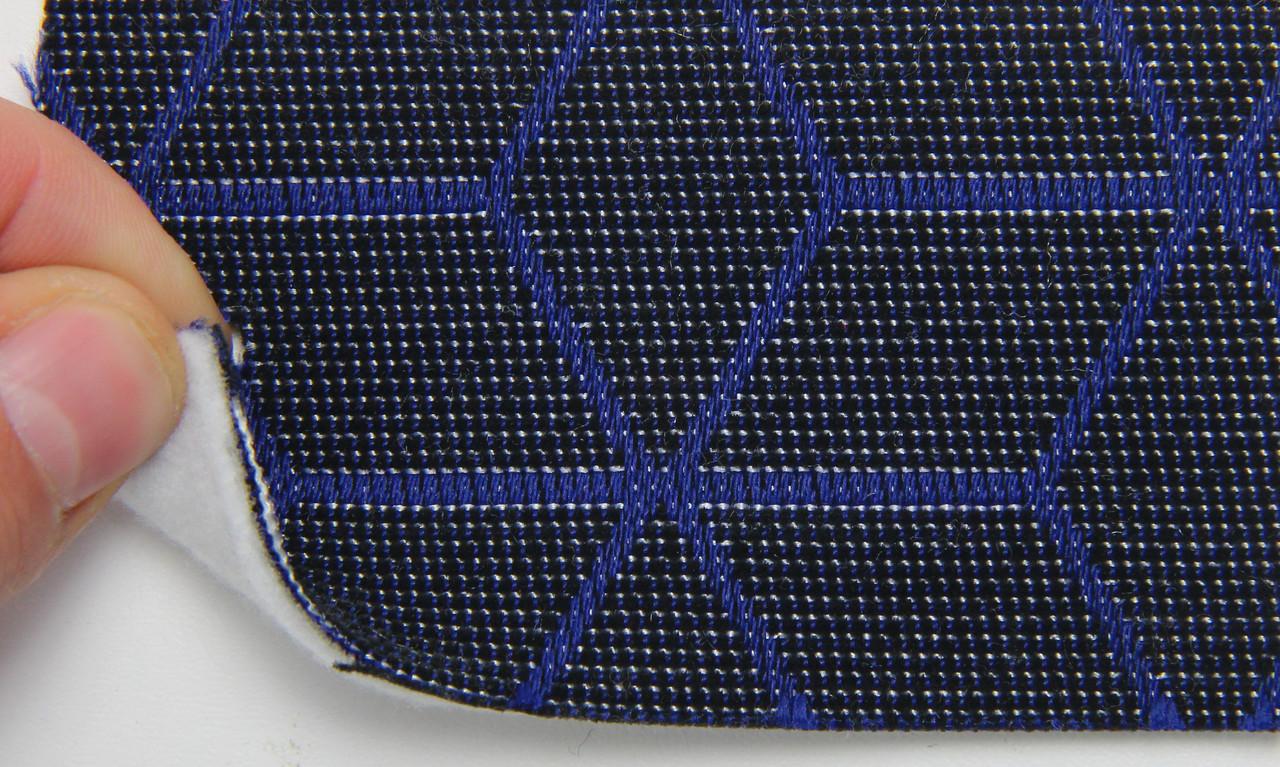Автоткань оригінальна для центру сидінь (темно-синій 7628), основа на повсті, товщина 3мм, шириною 140см