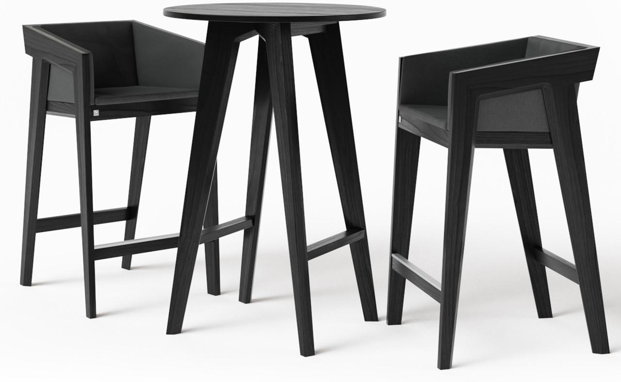 Стол барный Air 2 bar O d75 см черный TM Kint