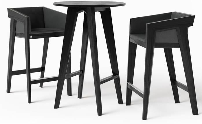 Стол барный Air 2 bar O d75 см черный TM Kint, фото 2