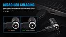 Фонарик наключник TrustFire MINI2 USB 220LM Фонарь Брелок + Аккумулятор мощный, фото 4