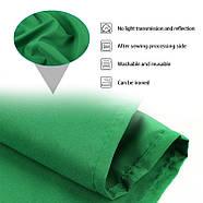 """КОМПЛЕКТ тканинний фон (2*3м) з тримачем фону """"Ворота"""" LD2030 колір фону зелений хромакей, фото 3"""