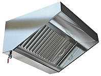 Зонт вытяжной пристенный Г-образный (1500x1000x350)