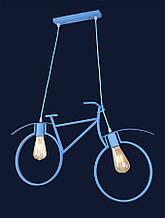 """Люстра в стиле лофт """"велосипед"""" голубой 756PR7021-2 BLUE"""