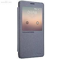 Чехол Nillkin Sparkle Leather Case для Samsung Galaxy Note 4 (N9100) Dark Grey