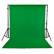 """КОМПЛЕКТ тканинний фон (2*3м) з тримачем фону """"Ворота"""" LD2030 колір фону зелений хромакей, фото 2"""