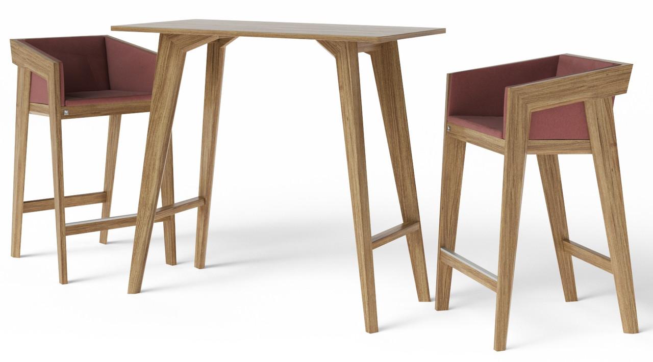 Стол барный Air 2 bar S 60*120 см светло-коричневый TM Kint