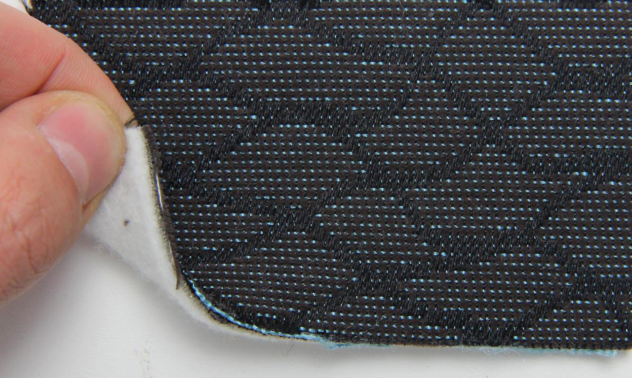 Автоткань оригінальна для центру сидінь (темно-сірий 7633), основа на повсті, товщина 3мм, шириною 140см