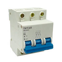 Автоматический выключатель ТИТАН 3P 20A 6кА 230/400В тип С