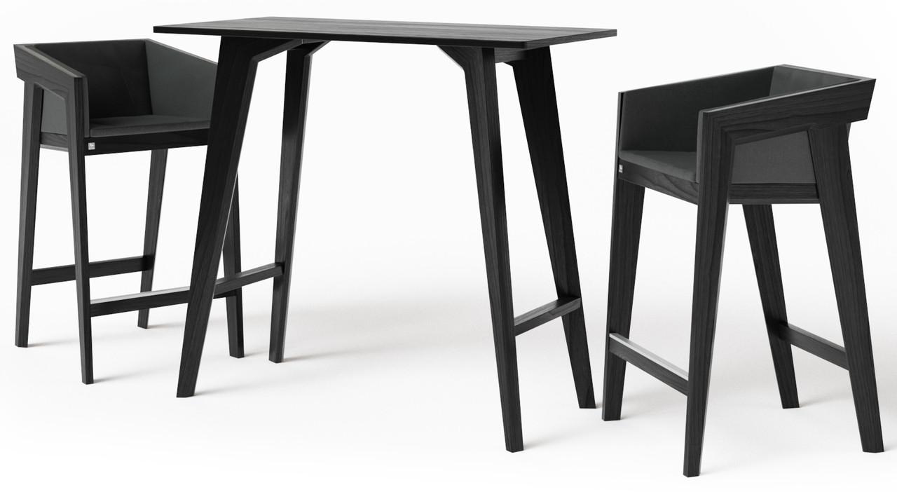 Стол барный Air 2 bar S 60*120 см черный TM Kint