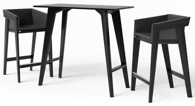 Стол барный Air 2 bar S 60*120 см черный TM Kint, фото 2