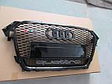 Решетка радиатора Audi A4 2012-2015 RS4, фото 3