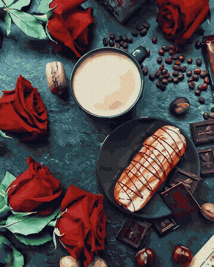 Картина по номерам Эклер со вкусом роз (Без коробки) BrushMe 40 х 50 см (BK-GX30836)