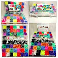 Набор для плетения браслетов из резинок Fashion loom bands двухуровневый кейс 12000 резинок!!!