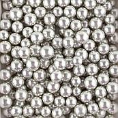 Шарики Серебряные зеркальные большие SD Pearls 14 мм (50 гр.)