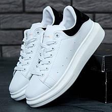Женские кроссовки в стиле Alexander Mcqueen LACE-UP SNEAKER, черно-белый, Вьетнам 39