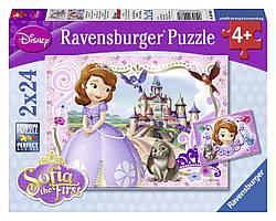 Пазл  Дисней Королевские приключения Софии  2 x 24  Ravensburger  09086