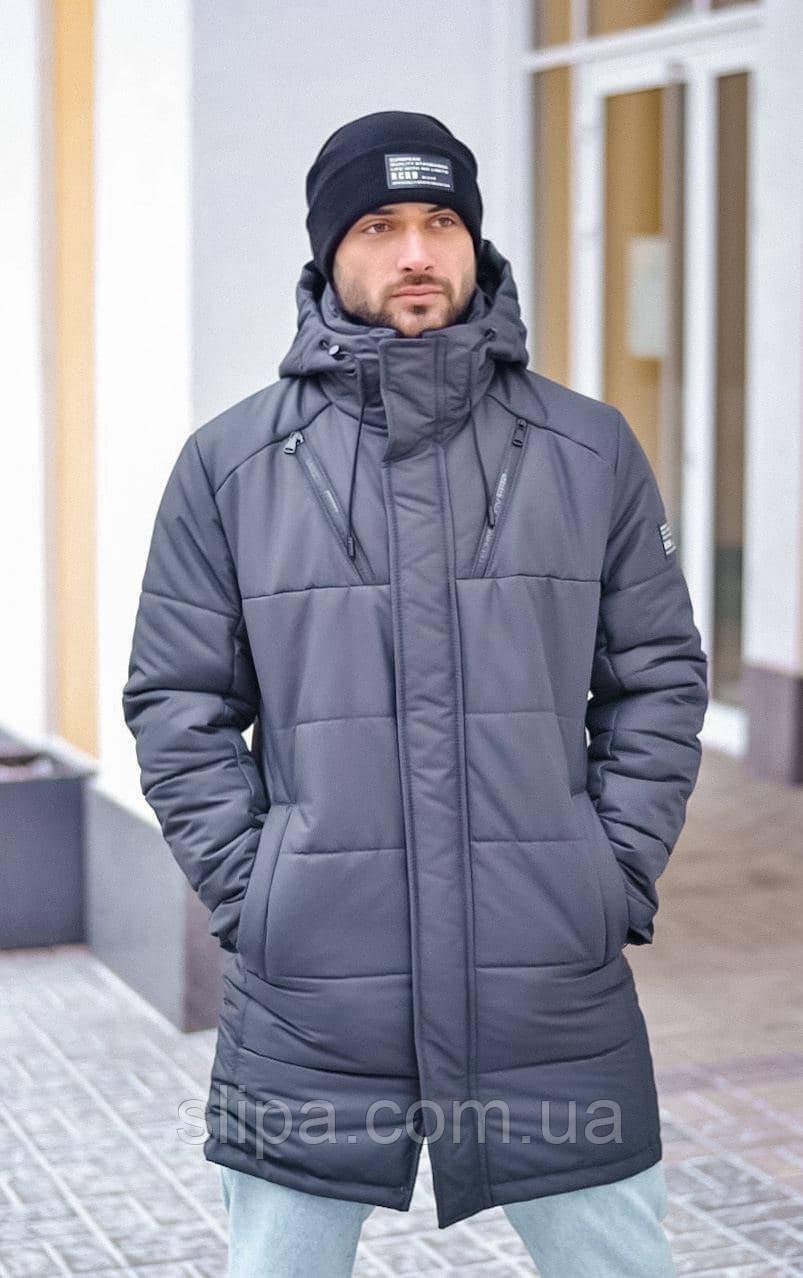 Чоловіча зимова куртка сіра RICCARDO