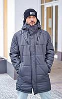 Чоловіча зимова куртка сіра RICCARDO, фото 1