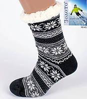 Сірий теплі Тапочки-шкарпетки з антиковзною поверхнею чоловічі 40-45р
