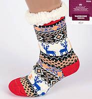 Новорічні домашні тапочки-шкарпетки з антиковзною поверхнею