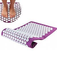 Ортопедический массажный коврик Acupressure Mat Фиолетовый