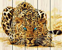 "Картина по номерам на дереве. Rainbow Art ""Леопард"" GXT4175-RA"
