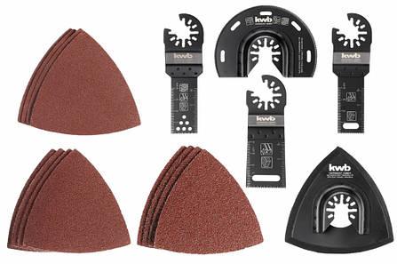 Набор насадок и шлифбумаги для многофункционального инструмента 17 шт, kwb, фото 2