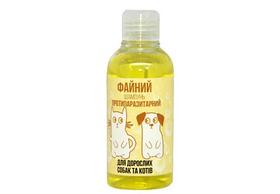 Шампунь Файний противопаразитарный для котов и собак, желтый 250мл