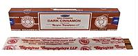 Благовония палочки масала Dark Cinnamon - Темная Корица, 15 гр. Satya Индия