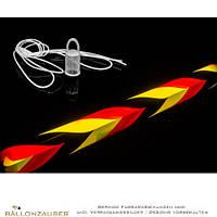 Светящаяся палочка 20см Германия. яркая черно-желто-красная.