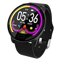 Умные часы фитнес браслет Lemfo K9 с измерением сердечного ритма и давления (Черный), фото 1