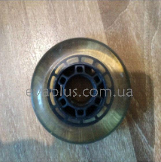 Колеса для роликовых коньков 64 мм. 8 шт (черное прозрачное)