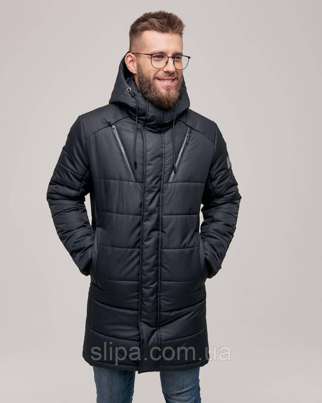 Чоловіча зимова куртка чорна RICCARDO