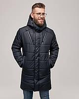 Чоловіча зимова куртка чорна RICCARDO, фото 1