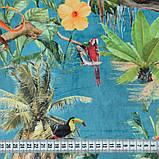 Ткань для мебели велюр принт Джунгли, фото 2
