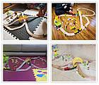 Железная деревянная дорога детская, EdWone, 70 деталей, 3+ (Brio, Ikea) E16A10, фото 3