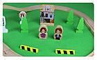 Железная деревянная дорога детская, EdWone, 70 деталей, 3+ (Brio, Ikea) E16A10, фото 4